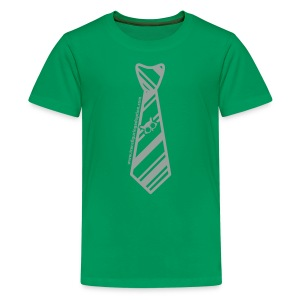 Green/Silver Youth Transfiguring Adoption Shirt - Kids' Premium T-Shirt