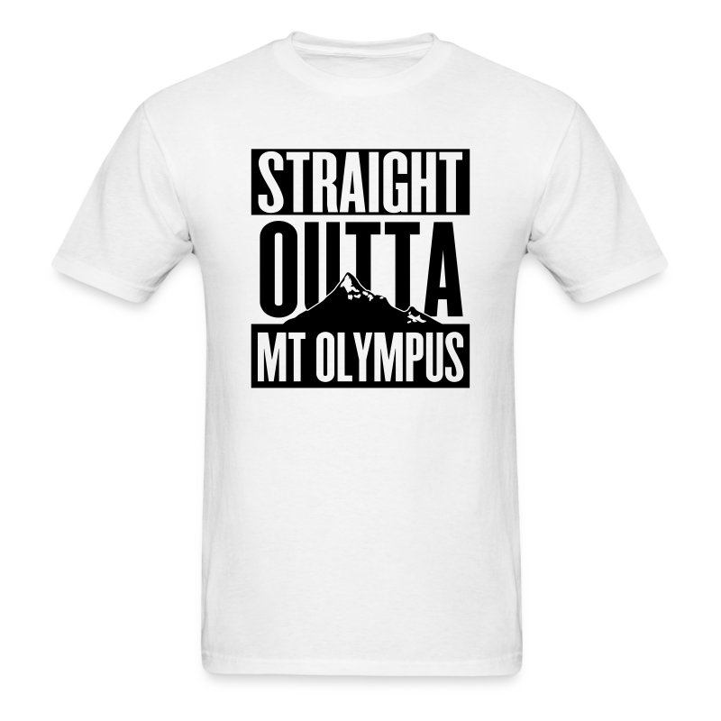 T-Shirt Straight Outta Mt Olympus - Men's T-Shirt