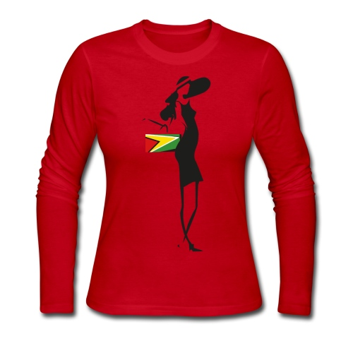 Guyana Girl Long Sleeve T-Shirt - Women's Long Sleeve Jersey T-Shirt