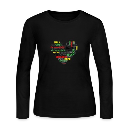 Guyanese Girl Rock Long Sleeve T-Shirt - Women's Long Sleeve Jersey T-Shirt