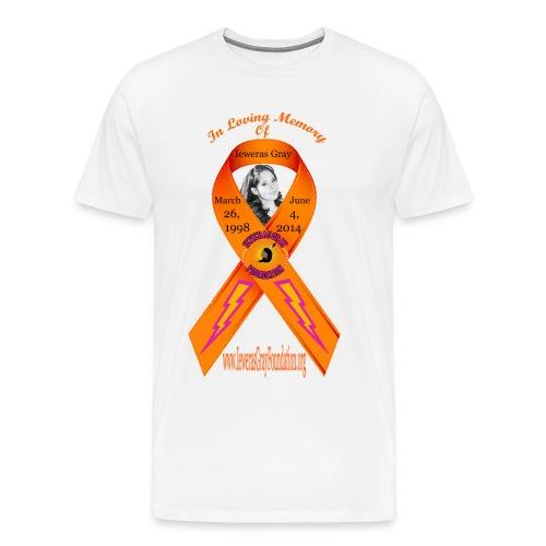 Men's Ieweras Gray Ribbon - Men's Premium T-Shirt