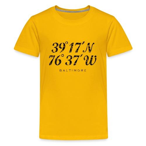 Baltimore Coordinates T-Shirt (Children/Yellow) - Kids' Premium T-Shirt