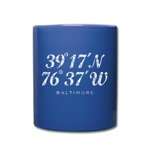 Baltimore Coordinates Mug (Blue) - Full Color Mug