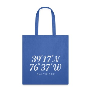 Baltimore Coordinates Bag (White) - Tote Bag