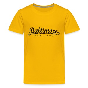 Baltimore, Maryland Classic T-Shirt (Children/Yellow) - Kids' Premium T-Shirt