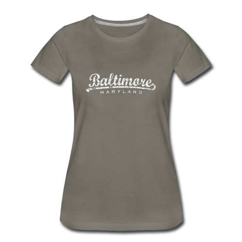 Baltimore, Maryland Classic T-Shirt (Women/Asphalt) - Women's Premium T-Shirt