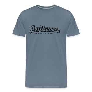 Baltimore, Maryland Classic T-Shirt (Men/Light Blue) - Men's Premium T-Shirt