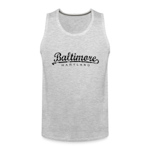 Baltimore, Maryland Classic Tank Top (Men/Gray) - Men's Premium Tank