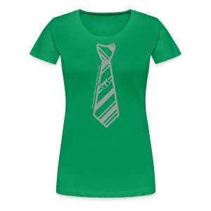 Green/Silver Ladies Plus Size - Women's Premium T-Shirt