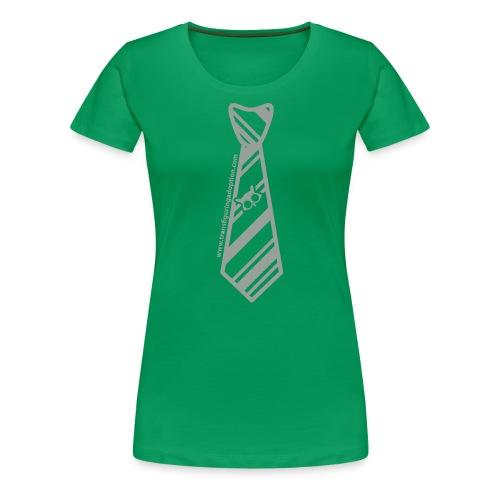 Green/Silver Ladies Plus Size - Women's Premium T-Shirt