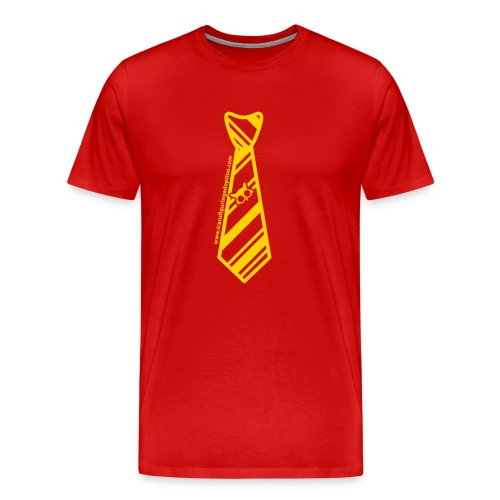 Yellow/Black Big & Tall Men's Shirt - Men's Premium T-Shirt
