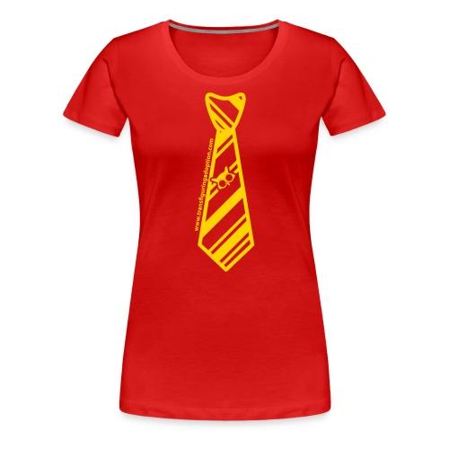 Red/Gold Ladies Plus Size - Women's Premium T-Shirt