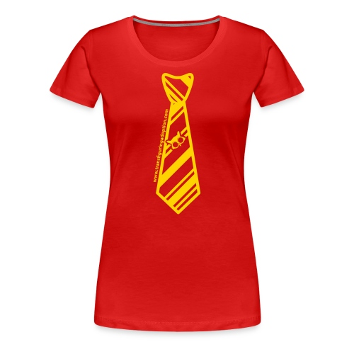 Red/Gold Ladies Plus Size - Women's Premium T-Shirt