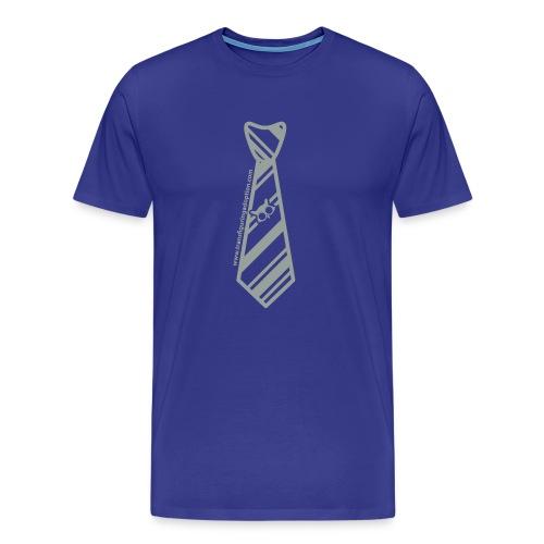 Blue/Silver Big & Tall Men's Shirt - Men's Premium T-Shirt