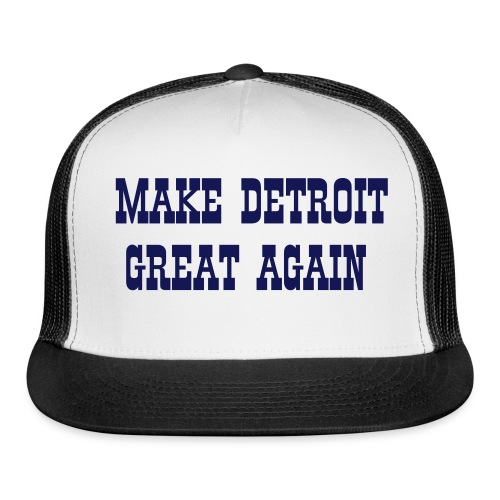 Trucker Cap - Show your support!!! 100% of the proceeds will be added to the 'Let's Buy the Lions' campaign (https://www.gofundme.com/2n773fkc) benefitting three Detroit charities: http://mitchalbomcharities.org/play   www.bensencore.com http://mojoswish.com/ http://mojoswish.com/