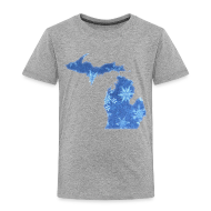 Baby & Toddler Shirts ~ Toddler Premium T-Shirt ~ Michigan Snowflake