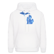 Hoodies ~ Men's Hoodie ~ Michigan Snowflake