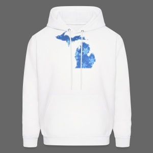 Michigan Snowflake - Men's Hoodie