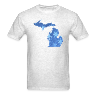 T-Shirts ~ Men's T-Shirt ~ Michigan Snowflake