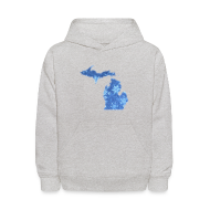 Sweatshirts ~ Kids' Hoodie ~ Michigan Snowflake