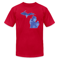 T-Shirts ~ Men's T-Shirt by American Apparel ~ Michigan Snowflake
