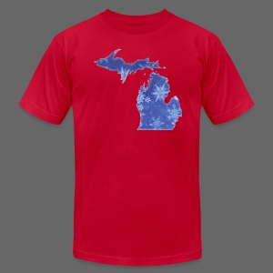 Michigan Snowflake - Men's Fine Jersey T-Shirt