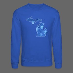 Michigan Snowflake - Crewneck Sweatshirt