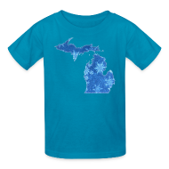Kids' Shirts ~ Kids' T-Shirt ~ Michigan Snowflake