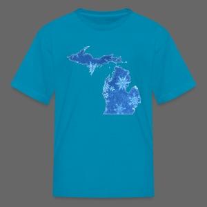 Michigan Snowflake - Kids' T-Shirt