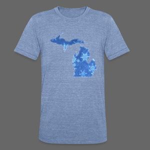 Michigan Snowflake - Unisex Tri-Blend T-Shirt