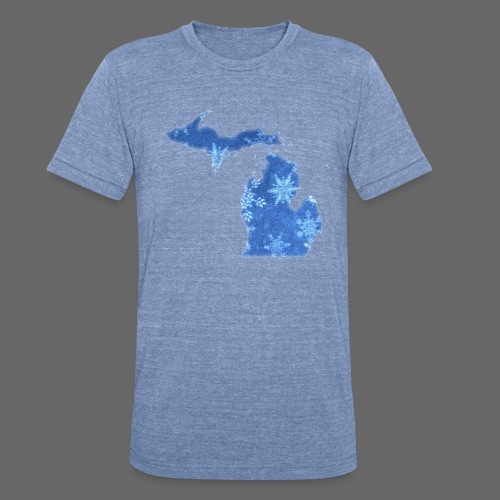 Michigan Snowflake - Unisex Tri-Blend T-Shirt by American Apparel