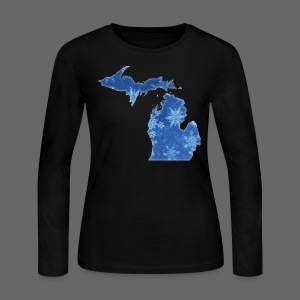 Michigan Snowflake - Women's Long Sleeve Jersey T-Shirt