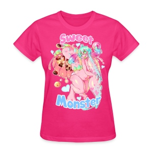 Sweet Monster (Pink) Girl's Tee - Women's T-Shirt