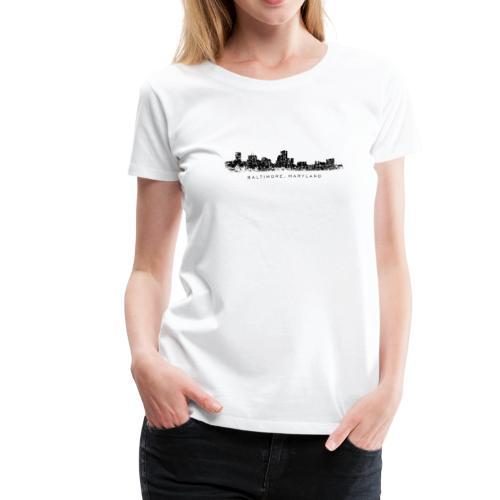 Baltimore, Maryland T-Shirt (Women/White) - Women's Premium T-Shirt