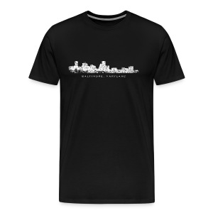 Baltimore, Maryland Skyline T-Shirt (Men/Black) - Men's Premium T-Shirt