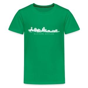 Baltimore, Maryland City Skyline Vintage White