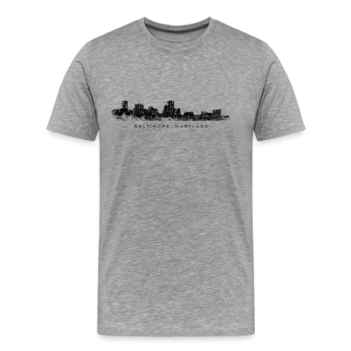 Baltimore, Maryland T-Shirt (Men/Gray) - Men's Premium T-Shirt