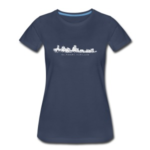 Baltimore, Maryland Skyline T-Shirt (Women/Navy) - Women's Premium T-Shirt
