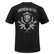 T-Shirts ~ Men's T-Shirt by American Apparel ~ Invictus Rifles Distressed
