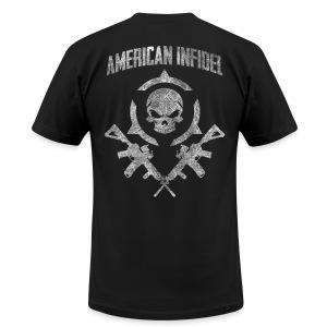Invictus Rifles Distressed - Men's Fine Jersey T-Shirt