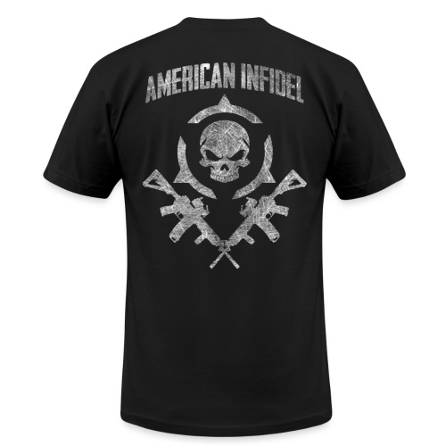 Invictus Rifles Distressed - Men's T-Shirt by American Apparel