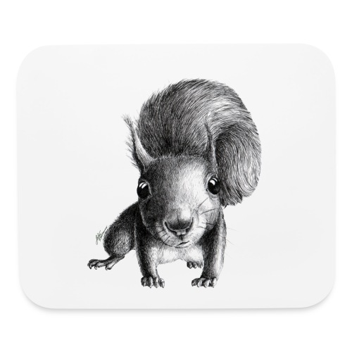 curious squirrel - Mouse pad Horizontal