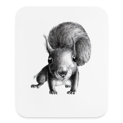 curious squirrel - Mouse pad Vertical