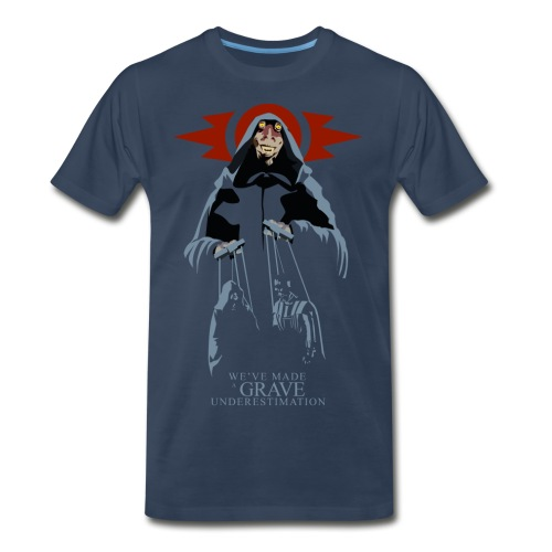 Sith Lord Jar Jar Men's Premium T-shirt (navy) - Men's Premium T-Shirt