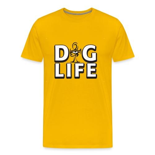 DIG LIFE AhNK TEE w/ Eye of Ra - Signature  - Men's Premium T-Shirt