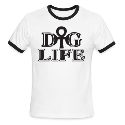 DIGLIFE Ahnk Collection - Signature - Men's Ringer T-Shirt