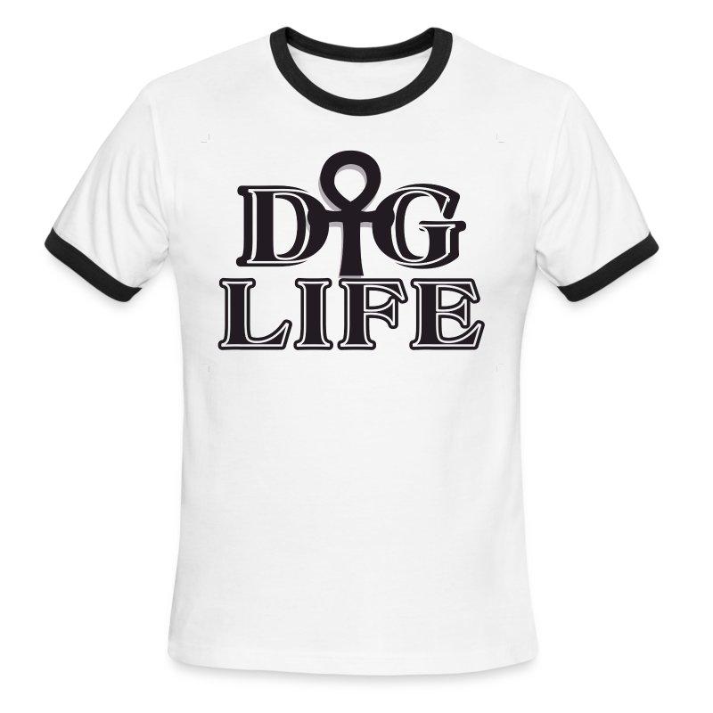 Dig Life Ahnk Logo B W T Shirt Spreadshirt