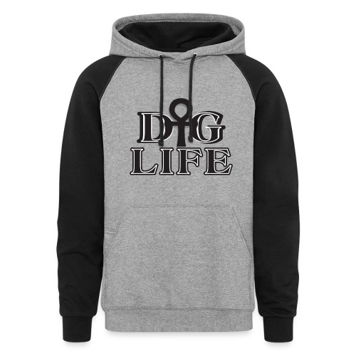 DIG LIFE Ahnk Hoodie - Signature Collection - Colorblock Hoodie
