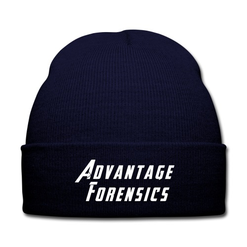AF Toque  (Smooth Lettering) - Knit Cap with Cuff Print