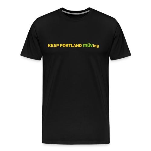 Keep Portland MUVing - Logo Premium Shirt - Black - Men's Premium T-Shirt